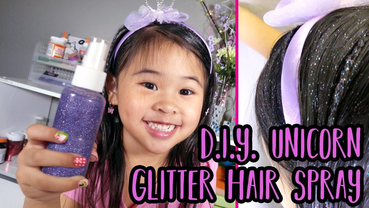 DIY Unicorn Glitter Hair Spray Easy Hair Glitter Tutorial