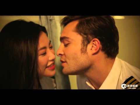 Ed Westwick and Zhu Zhu kissing blooper from Last Flight filming