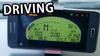Torque VDash App + ELM327 - Driving & Reading ECU data
