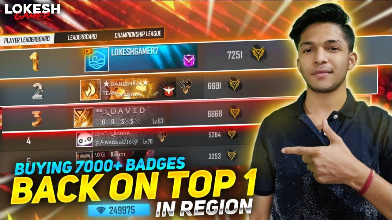 I'M BACK IN REGIONAL TOP 1 & Buying 7200+++ Badges Got 200 Magic Cube Chest Free Fire #3MillionArmy