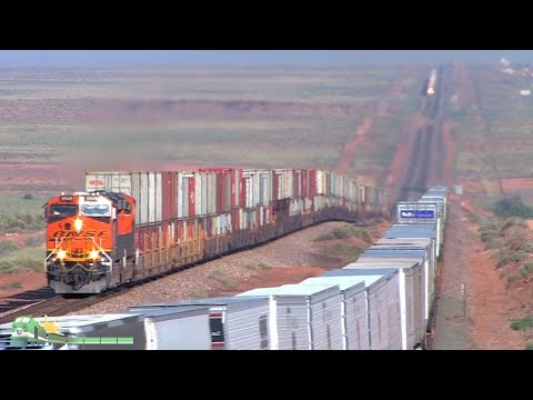 TRAINS on Parade!  BNSF Transcon in Northern Arizona