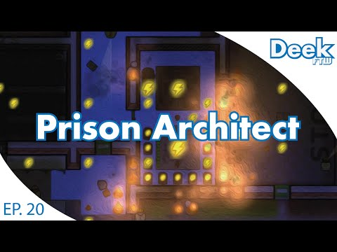 Prison Architect EP.20 - Explosive Fire Disaster - Researching and Building Out the Armory