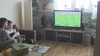 Ferie 2015 z wizytą u Łukiego cz2-Wielkie Gran Derbi Real-Gutek vs Łuki-Barca I mecz FIFA 15