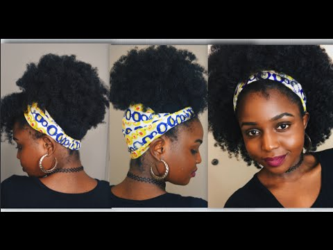 LOZA TAM SATIN LINED HEADBANDS FOR NATURAL HAIR - YouTube d8ec59bb822