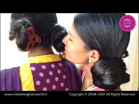 ILHW Model Sheela & Sultan's Sensual  Twin Buns Making & Smelling (Sniffing)