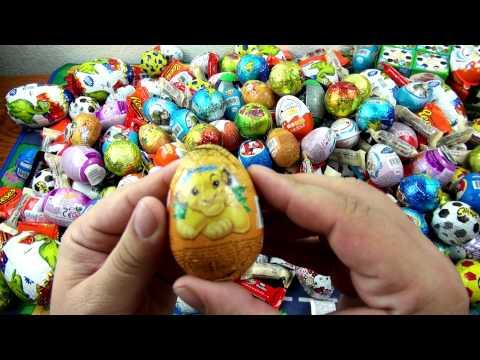 50 Surprise Eggs    Unwrapping Kinder Surprise , киндер сюрприз