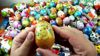 50 Surprise Eggs    Unwrapping Kinder Surprise , киндер сюрприз