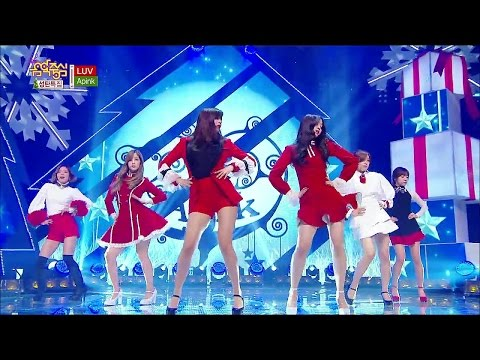 【TVPP】Apink - LUV, 에이핑크 - 러브 @ Christmas Special, Show Music Core Live