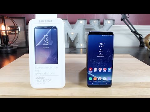 check out 39b3c 705a2 OFFICIAL Samsung Galaxy S8 / S8+ Screen Protector Case Compatible Install  and Review!