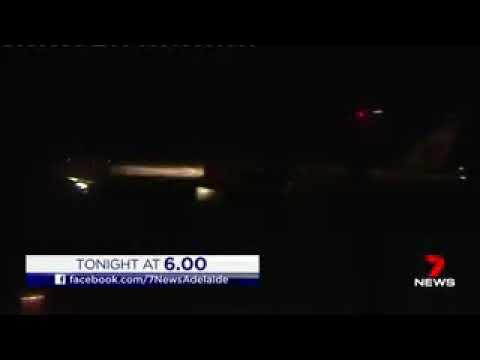 Etihad airways emergency landing at Adelaide Airport