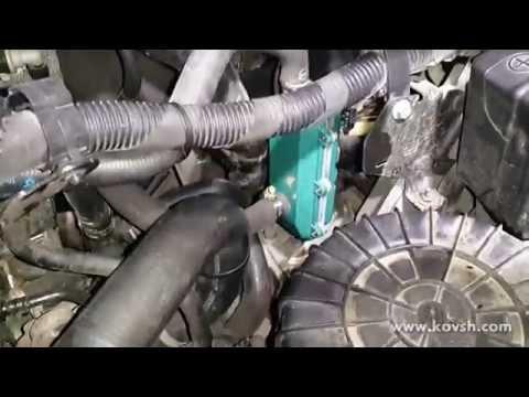 Установка предпускового подогревателя двигателя и доп. топливного фильтра на Citroen Jumper 2.2 HDi