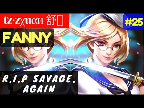 R.I.P Savage, Again [Rank 1 Fanny] | tz·zχuαи 舒枫 Fanny Gameplay and Build #25 Mobile Legends