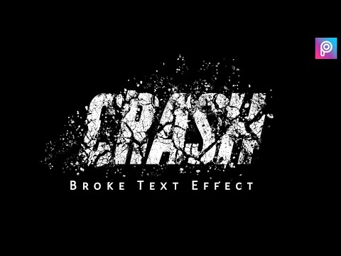 Broke Text Effect | Picsart Editing Tutorial