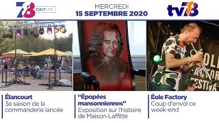 7/8 Culture. Emission du 15 septembre 2020
