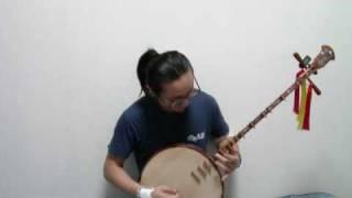ベトナム月琴で星雲仮面マシンマン.