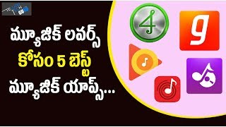 Top 5 Free Music Downloader Apps For Android || Telugu Tech Guru