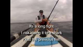 kayak fishing Catching yellow fin tuna with live bait and lures
