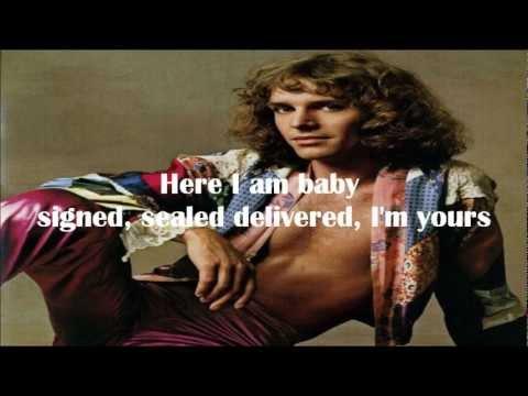 Signed, Sealed, Delivered I'm Yours (Peter Frampton karaoke).wmv