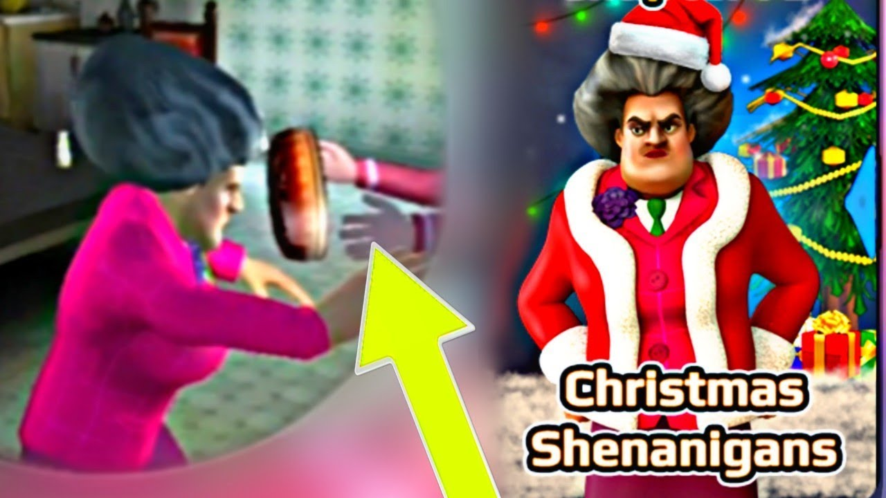 ⚠️ DON'T TRY THIS! SCARY TEACHER 3D! NEW Christmas Levels Update - Gameplay Walkthrough Granny