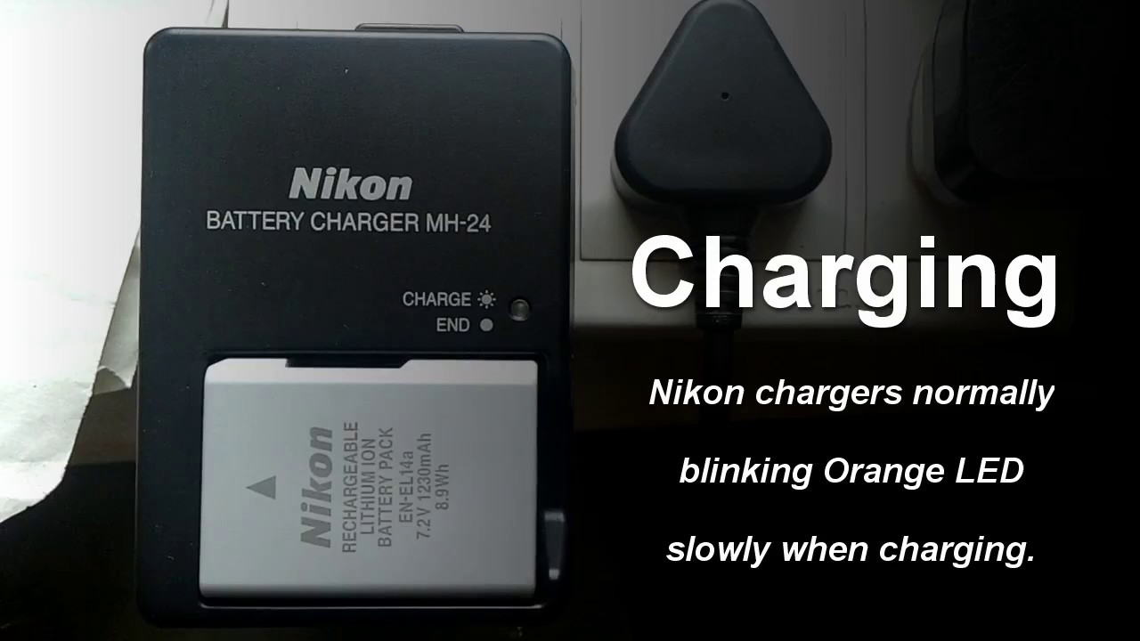 Nikon Dslr Battery Indication Charging And Full Charge