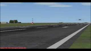 Landing at LIBP with Falcon50 FS2004
