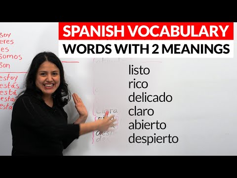 Spanish Vocabulary: 7 Words That Change Meanings In Spanish
