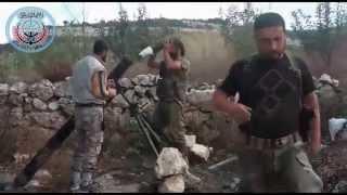 Боевики ИГИЛ стреляют из минометов   орут АЛЛАХ АКБАР  Сирия война новости 2015