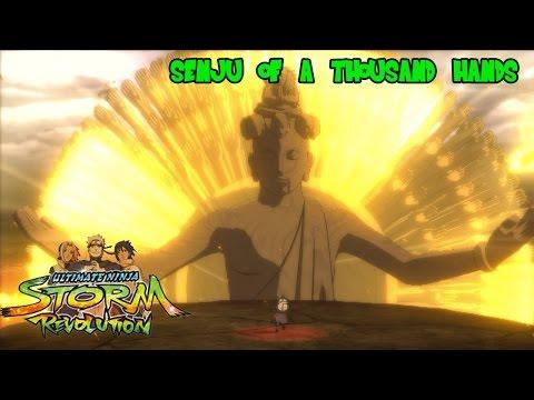 Naruto Shippuden: Hashirama's Senju of Thousand Hands vs Susano'o Madara (Ninja Storm Revolution)