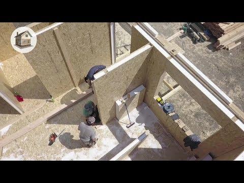 Дом из сип панелей, 57м2, 700 тыс руб. От фундамента до крыши