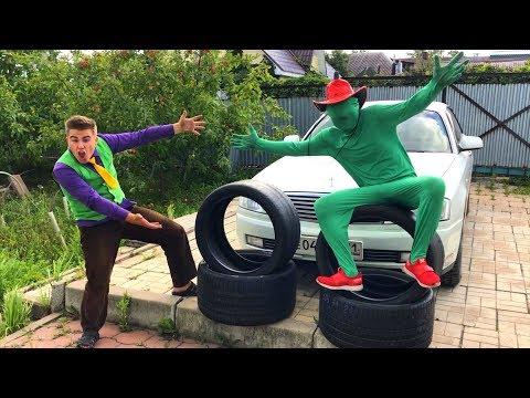 Green Man BLOCKED Road With Wheel VS Mr. Joe On Nissan Cedric VS A LOT OF Wheels