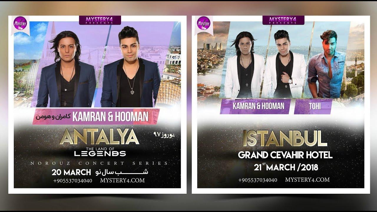 Mystery4 Norouz Concert Series in Antalya & Istanbul March 20 & 21 (29  Esfand va 1 Farvardin 1397)