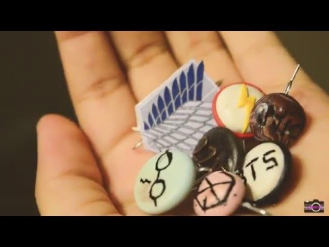 DIY FANDOM PINS (ANIME, KPOP, BOOKS AND MORE!)