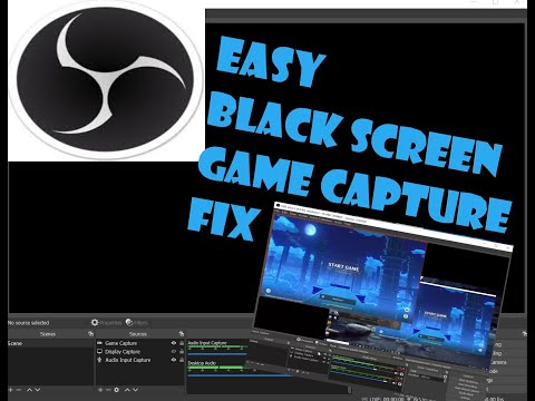 OBS Game Capture black screen simple fix. OBS 26.0.2