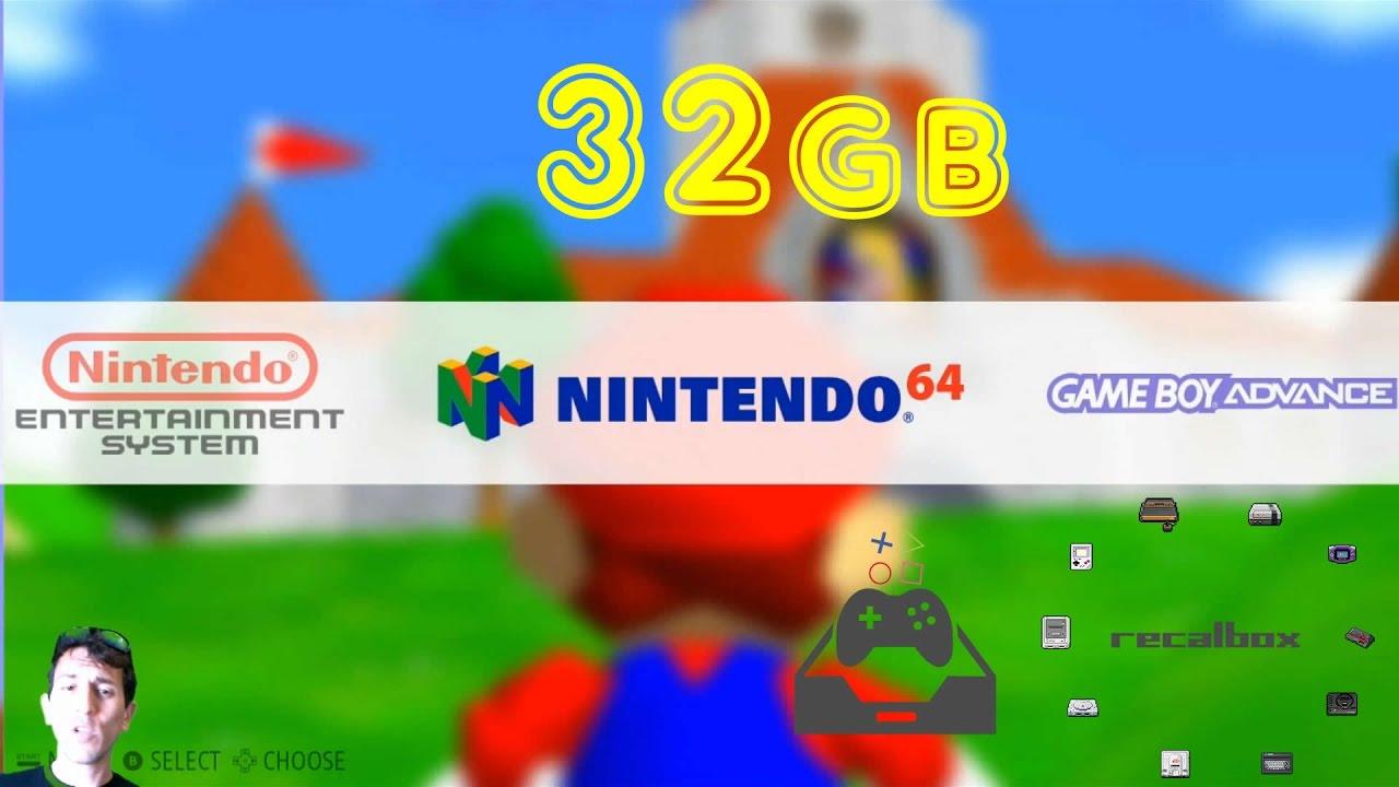 32GB RECALBOX Retro Gaming IMAGE 6,000+ GAMES & KODI