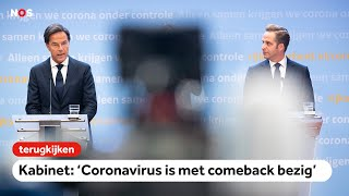 TERUGKIJKEN: Persconferentie over nieuwe coronamaatregelen