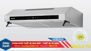 BepXANH.com | Máy hút mùi classic Malloca H342.6 TC - inox phối kính đen hiện đại