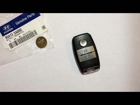 видео: Замена батарейки  smart key kia