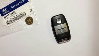 Замена батарейки  Smart Key Kia