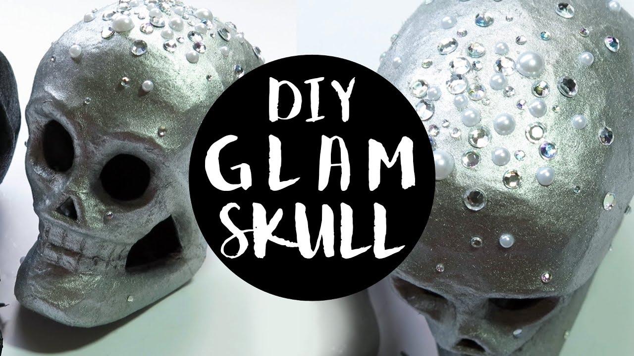 Diy halloween skull decorations - Easy Diy Skull Decor Glam Style