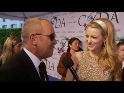 Blake Lively and Michael Kors Interview on the Red Carpet at the CFDA Fashion Awards