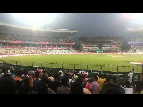LITTLE PARTY TIME AT THE EDEN GARDEN WHEN LIGHTS GO OFF DURING A MATCH