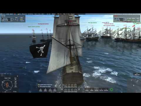 Naval Action Trafalgar: Pirates vs. Great Britain (Ships of  the Line) 9-5-15