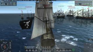 Naval Action Trafalgar: Pirates vs. Great Britain (Ships of  the Line) 9-5-15