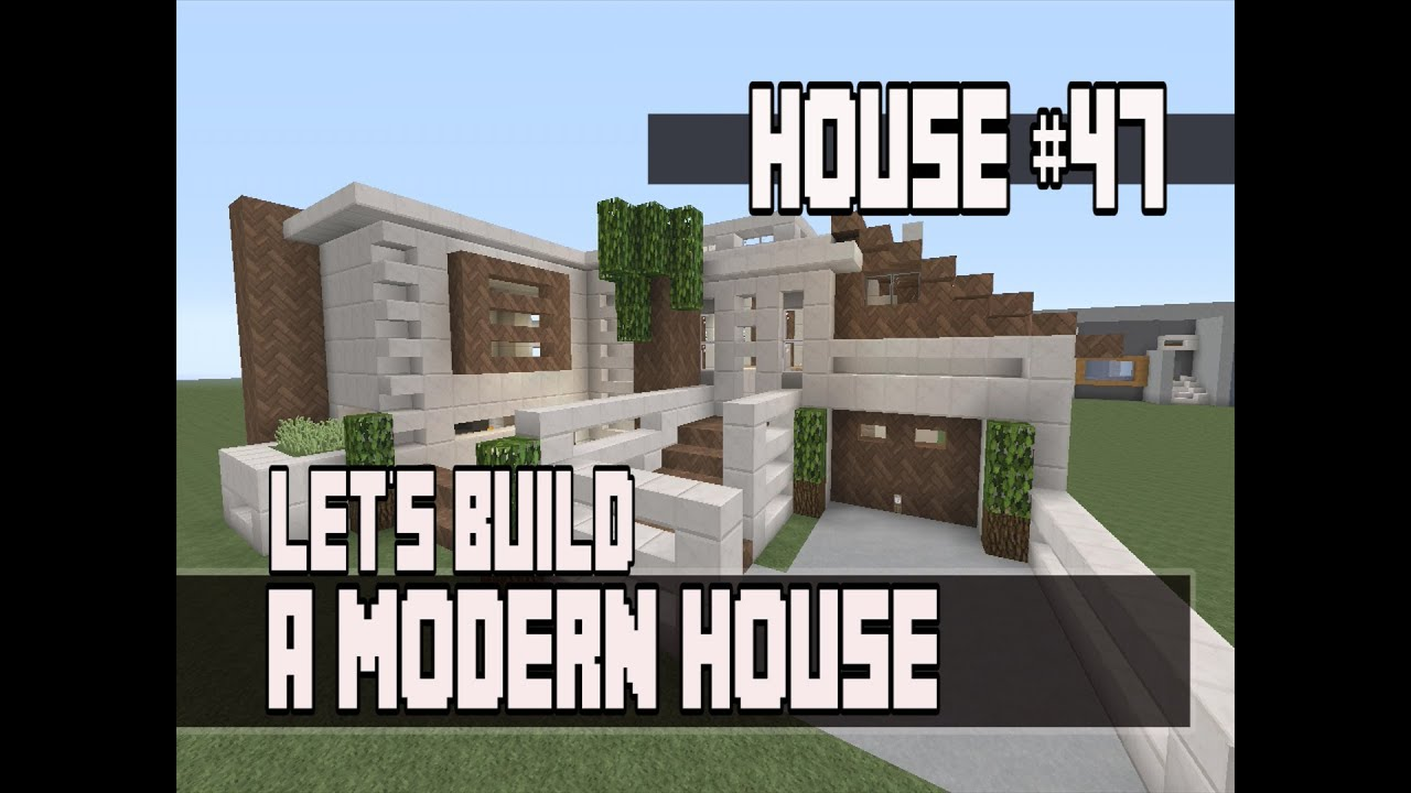 Lets Build a Modern House in Minecraft Xbox 360 Part 3 House 47