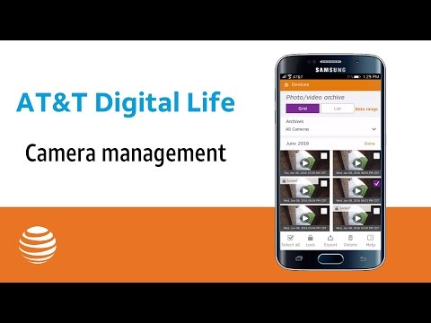 Camera management | AT&T Digital Life