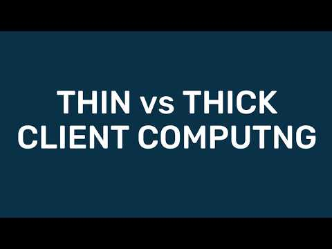 A-Level Comp Sci: Thin vs Thick Client Computing
