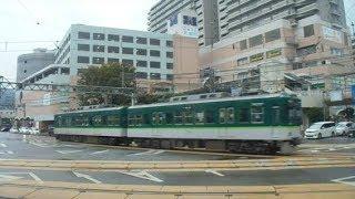 京阪石山坂本線 700形電車 坂本行き 浜大津駅発車