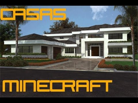 Casas modernas minecraft casa 1 youtube for Casa moderna minecraft 0 12 1