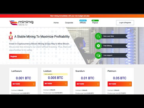Mining Labs - Free Bitcoin Cloud Mining Site 2020 I Earn 0.005 Bitcoin Daily without investment