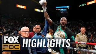 Deontay Wilder defeats Luis Ortiz — the PBC on FOX crew breaks down his KO win | PBC ON FOX